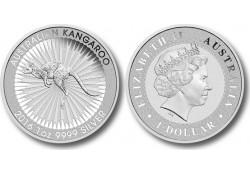 Km ??? Australië 1 Dollar Kangaroe 2016 1 Ounce Zilver Proof
