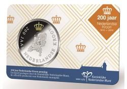 Nederland 2016 Penning 200 jaar Nederlandse Kroon in coincard