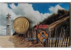 Nederland 2016 10 jaar Zonnemunten in coincard met de 10 cent 2016