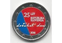 2 Euro Slovenië 2016 25 jaar onafhankelijkheid Gekleurd
