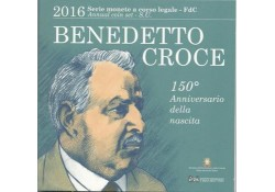 Bu set Italië 2016 met de 2 Euromunt Plauto en de 5 euro Benedetto Groce