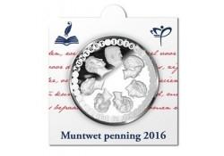 Nederland 2016 Muntwet Penning in Munthouder