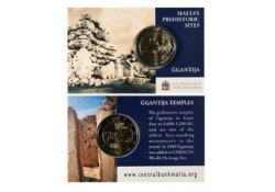 2 Euro Malta 2016 Unc Ggantija tempel met  Frans muntteken.in coincard