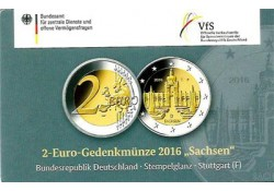 2 euro Duitsland 2016 F Sachsen in Coincard