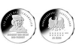 20 Euro Duitsland 2016 J 175 jaar Duitse lied UN