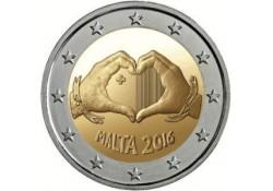 2 Euro Malta 2016 Unc Liefde met Frans muntmeesterteken