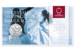 5 Euro Oostenrijk 2017 150 jaar Donauwalzer Zilver