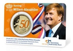 Nederland 2017 50 jaar koning Willem-Alexander in coincard