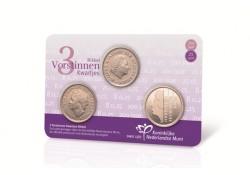 Nederland 2017 3 vorstinnen kwartjes in coincard