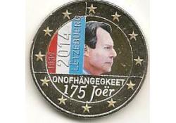 2 Euro Luxemburg 2014 175 jaar onafhankeliljkheid Gekl.