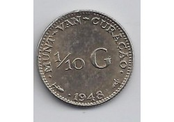 1/10 Gulden Curacao 1948 Unc