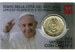 50 Cent Vaticaan 2014 in blister Nummer 5