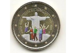 2 Euro Vaticaan 2013 Wereldjongerendagen Gekleurd