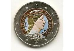 2 Euro Letland 2014 gekleurd GH 060