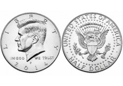 KM ??? U.S.A. ½ Dollar 2014 P UNC