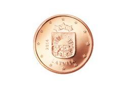 2 Cent Letland 2014 UNC