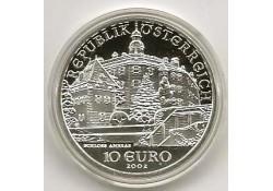 10 Euro Oostenrijk 2002, Schloss Ambras Proof In orig dsje & cer