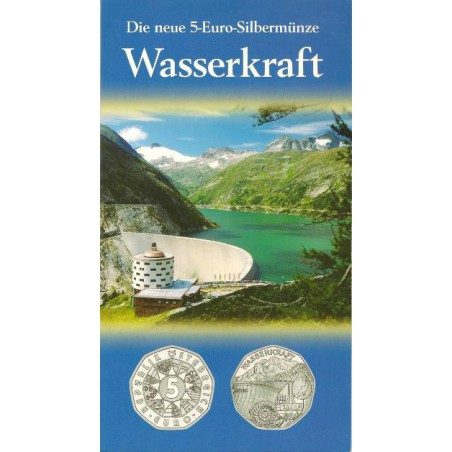 5 Euro Oostenrijk 2003, Wasserkraft. In grote Blister