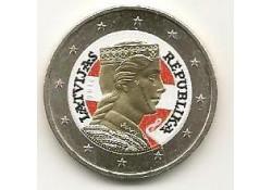2 Euro Letland 2014 gekleurd HT