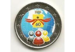2 Euro België 2008 Mensenrechten Gekleurd 063/5