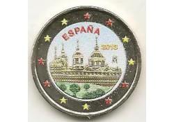 2 Euro Spanje 2013 Klooster El Escorial Gekleurd 182/6
