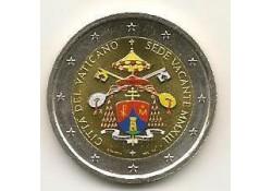 2 Euro Vaticaan 2013 Sede Vacante gekleurd ZELDZAAM (Ht)