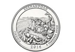 KM ??? U.S.A ¼ Dollar Shenandoah 2014 P UNC