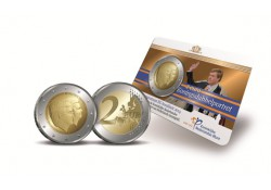 Nederland 2014 2 Euro Alexander en Beatrix Bu in Coincard