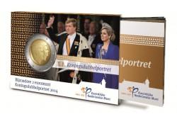Nederland 2014 2 Euro  Alexander en Beatrix Unc in Coincard met
