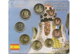 Bu set Spanje 2014 met 2x 2 euromunt
