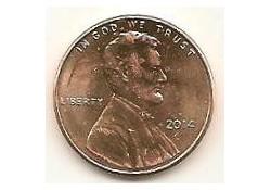 KM??? U.S.A. 1 Cent 2014 D Unc