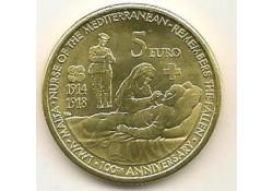 Malta 2014 5 euro eerste wereldoorlog Unc