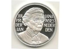 Penning Zilver Juliana 90 jaar 1909-1999