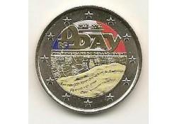 2 Euro Frankrijk 2014 D-Day Gekleurd