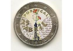 2 Euro Portugal 2014 40 jaar revolutie Gekleurd