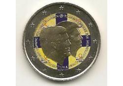 2 Euro Nederland 2014 Alexander en Beatrix Gekleurd.