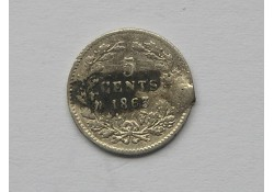 5 Cent 1863 ZF Montagespoor