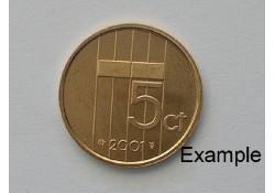 5 Cent 2001 Unc
