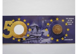 2 Euro Ierland 2007 Verdrag van Rome Bu  in coincard