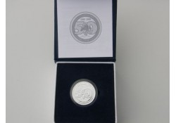 België 2008 5 Euro Zilver 50 jaar Smurfen Proof in dsje & cert.