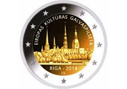 2 Euro Letland 2014 Unc Riga, de culturele hoofdstad 2014