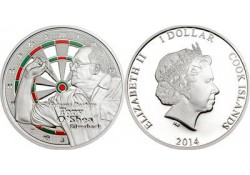 Cook Islands 2014 1 Dollar Proof Famous Darters Gary Robson