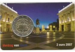 Nederland 2007 2 Euro Verdrag van Rome Unc  In coincard H&B
