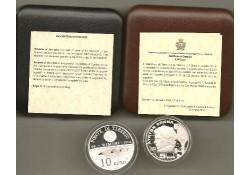 San Marino 2011 5 & 10 Euro Proof Incl doosjes & cert.