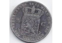 ½ gulden 1863 ZG+