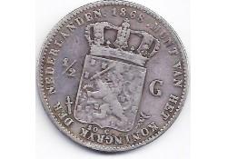 ½ gulden 1868 F-