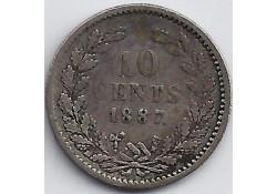 10 cent 1887 F-