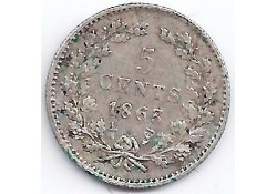 5 cent 1863 F