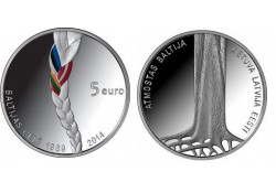 Letland 2014 5 euro zilver proof Old Stenders