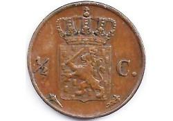 ½ cent 1822U ZF+